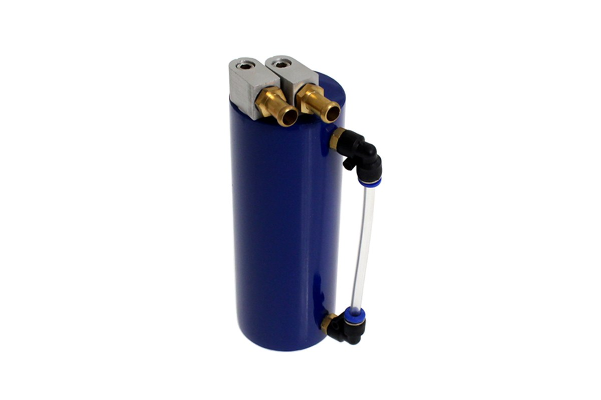 Oil catch tank 0.4L 9mm TurboWorks Blue - GRUBYGARAGE - Sklep Tuningowy